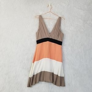 Lucca Couture Color Blocked Striped Tank Dress